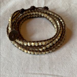Chan Lulu 5 wrap leather bracelet